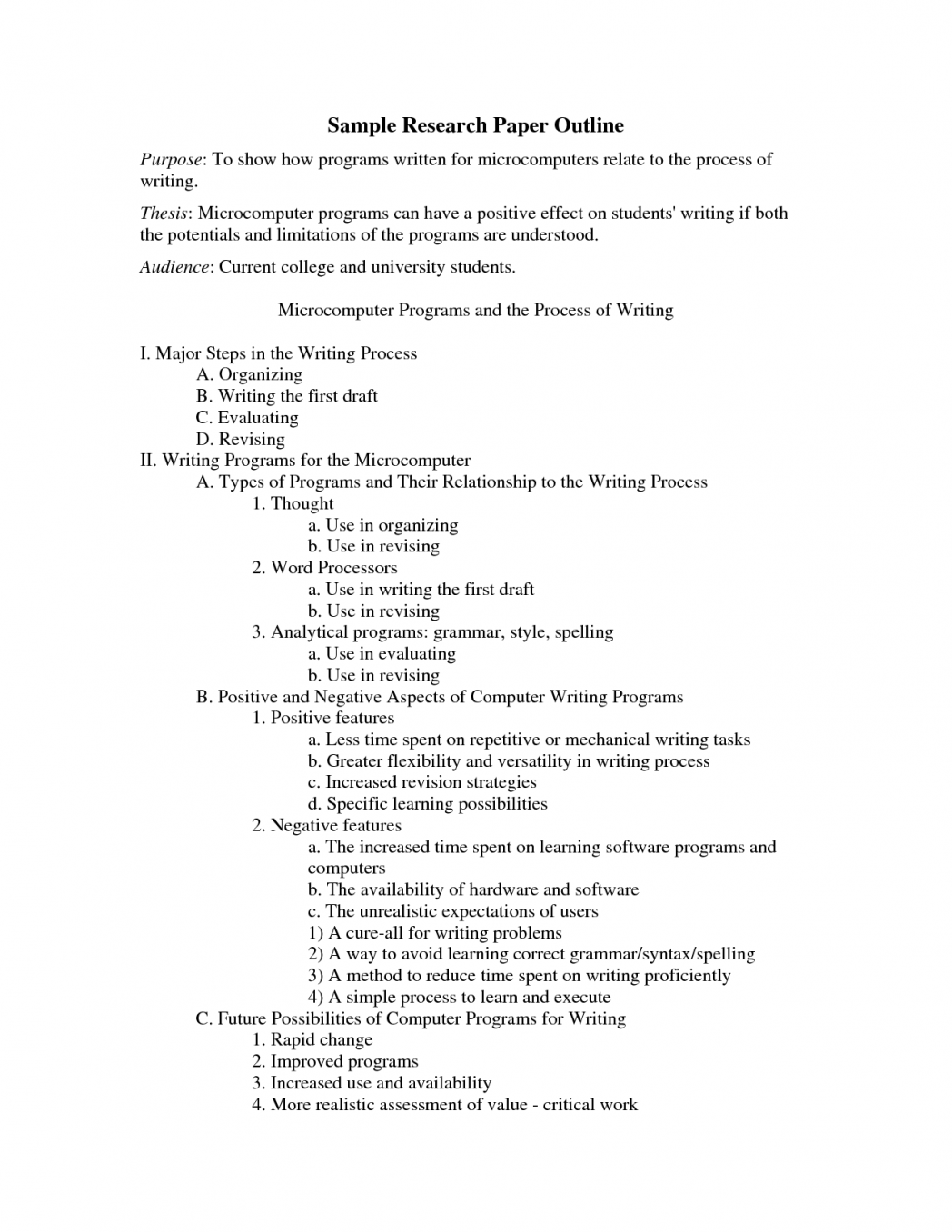 007 Research Paper Outline Template For Apa Style An Example