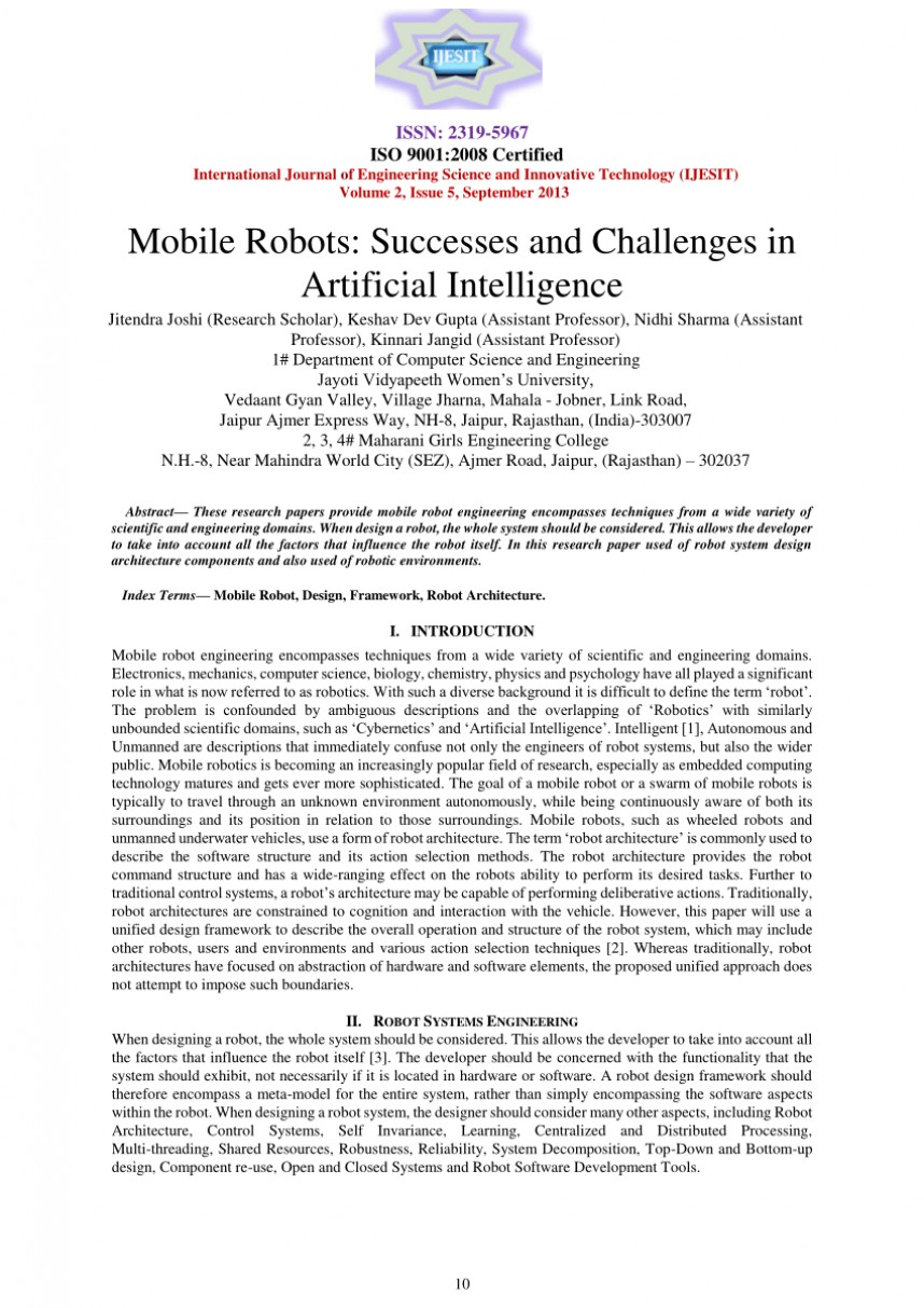 007 Research Paper Papers Artificial Intelligence Imposing On Free Download In Finance
