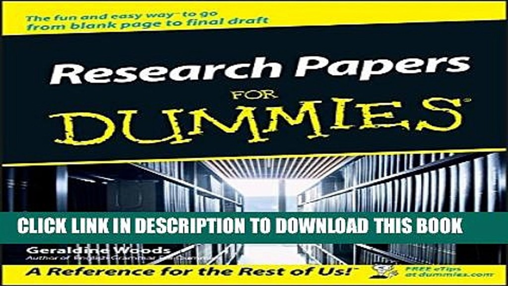 007 Research Paper Papers For Dummies X1080 Unforgettable Pdf Download Free Large