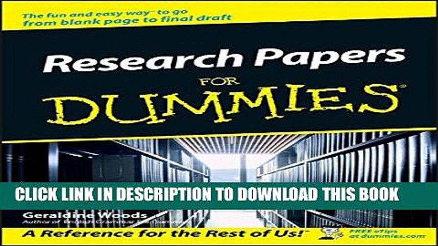 007 Research Paper Papers For Dummies X1080 Unforgettable Pdf Download