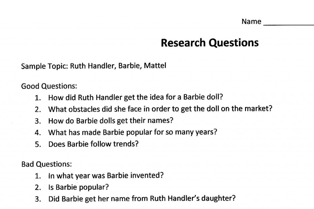 007 Research Paper Psychology Question Topics Archaicawful Large