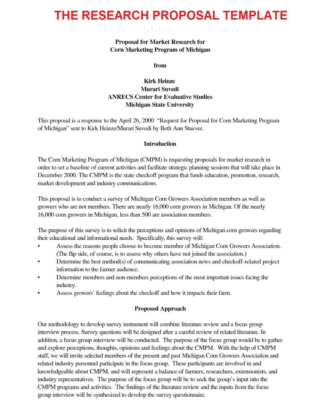 007 Research20proposal20template Research Paper Introduction Of Best A Apa For An Format Large