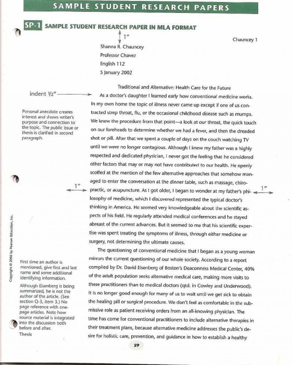 007 Sample Papper Research Paper Unusual Formatting Format Apa Template Mla Style Large