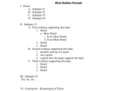 007 Sample Research Paper Mla Outline Format Example 474545 Rare Works Cited