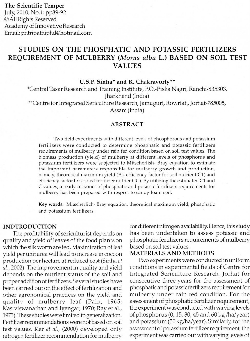 007 Sinha2band2bchakravorty253b89 Format For Science Research Awesome Paper Sample Political Mla Scientific Large