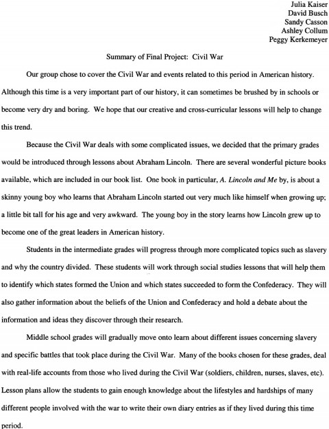 008 Academic Research Paper Essays Civil War Essay Hooks Surprising 480