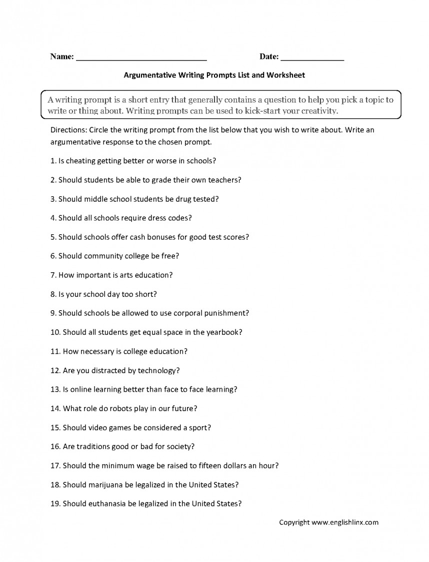 008 Argumentative Research Papers On Technology Paper Writing Prompts List Top Topics