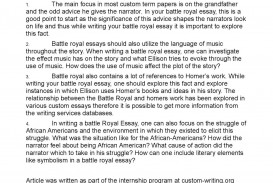 008 Battle Royal Essay Questions Summary Royale Research Paper Topics Argumentative20 Striking Literature American Ideas English History
