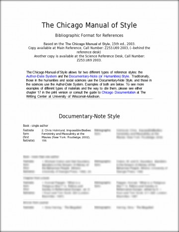 008 Chicago Style Essay Example L In Text Citation Sample Paper Wondrous 360