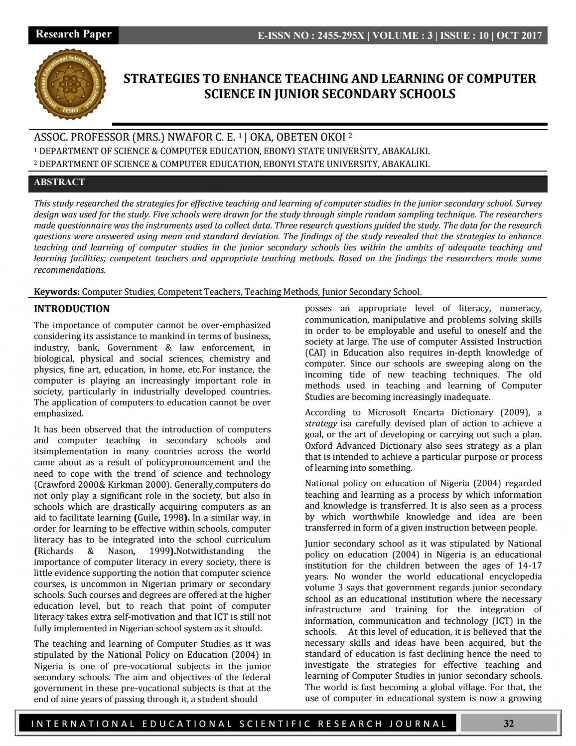 008 Computer Science Research Papers Paper Page 1 Beautiful 2017 Ieee In Topics 1920