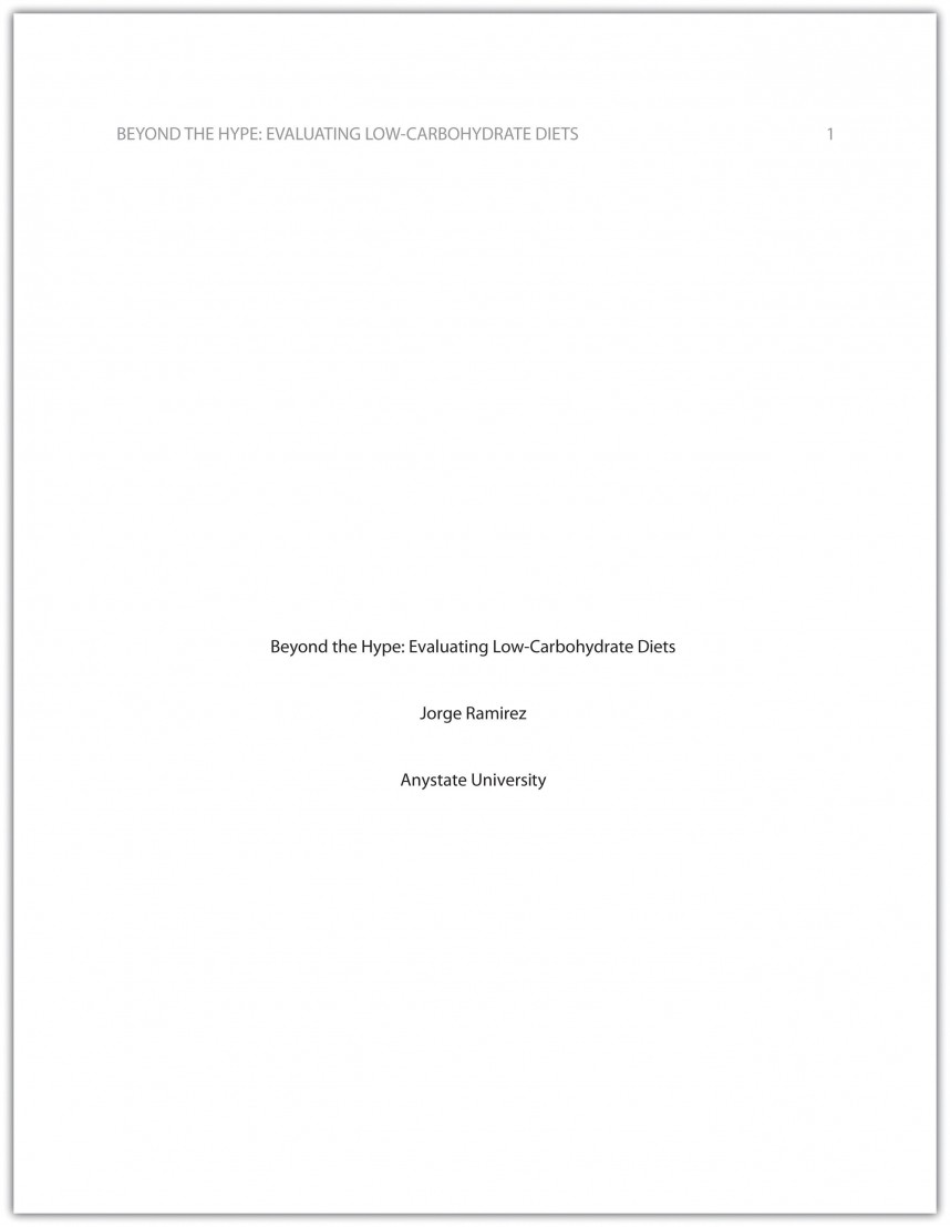 008 Cover Page For Research Paper Rare Title Term Apa Pdf