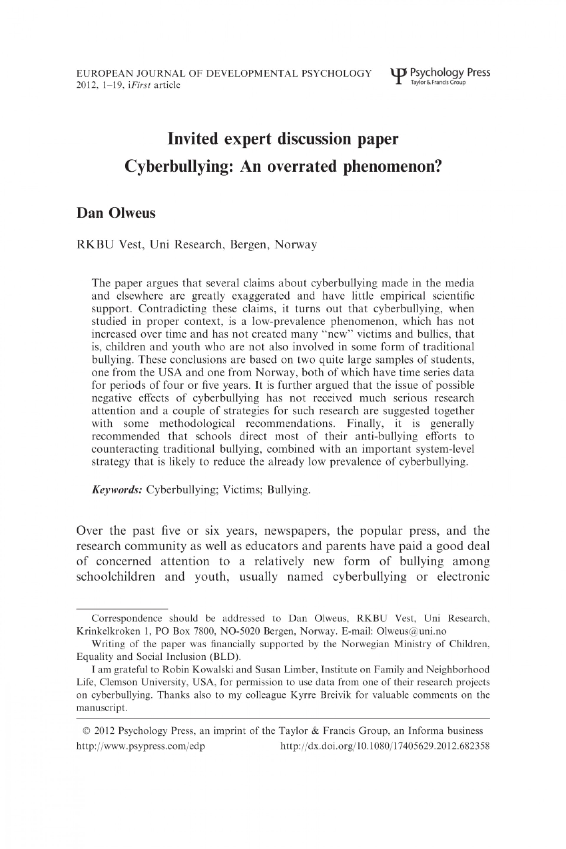 008 Cyberbullying Research Paper Example Breathtaking Sample 1920