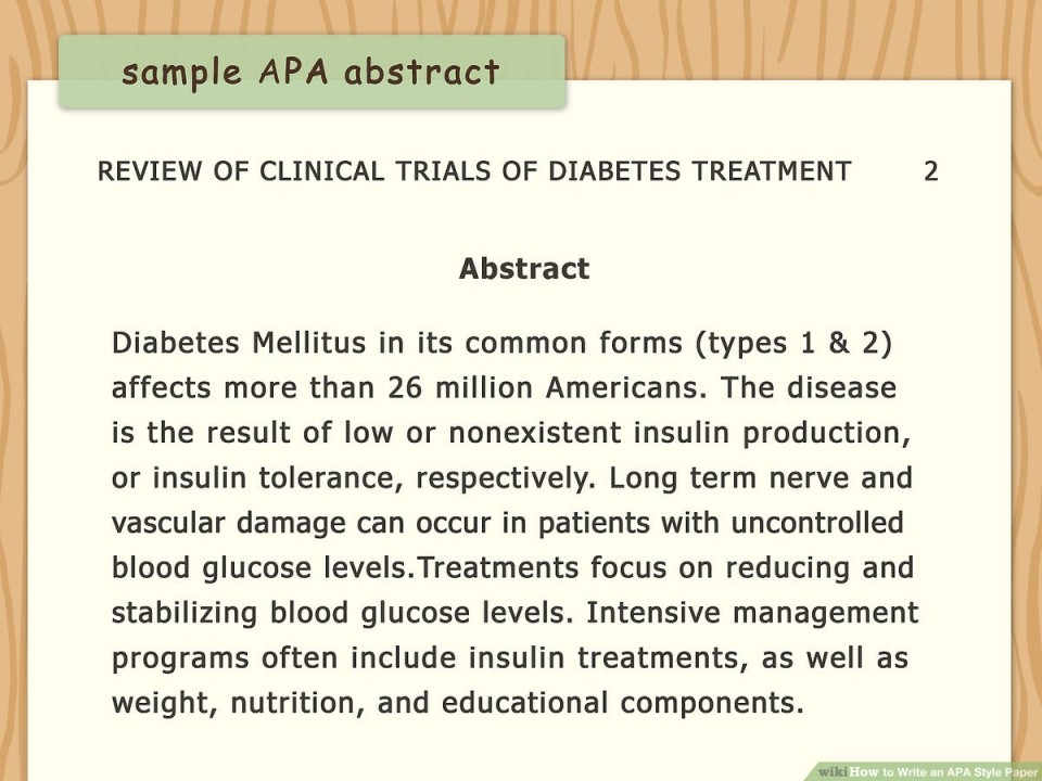 008 Diabetes Mellitus Research Paper Outline Aid1156038 V4 1200px Write An Apa Style Step Version Rare 960