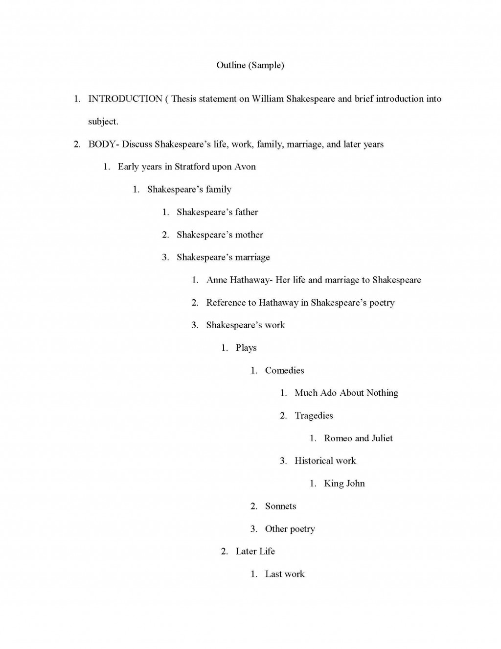 008 Example Apa Research Paper Outline Striking Large