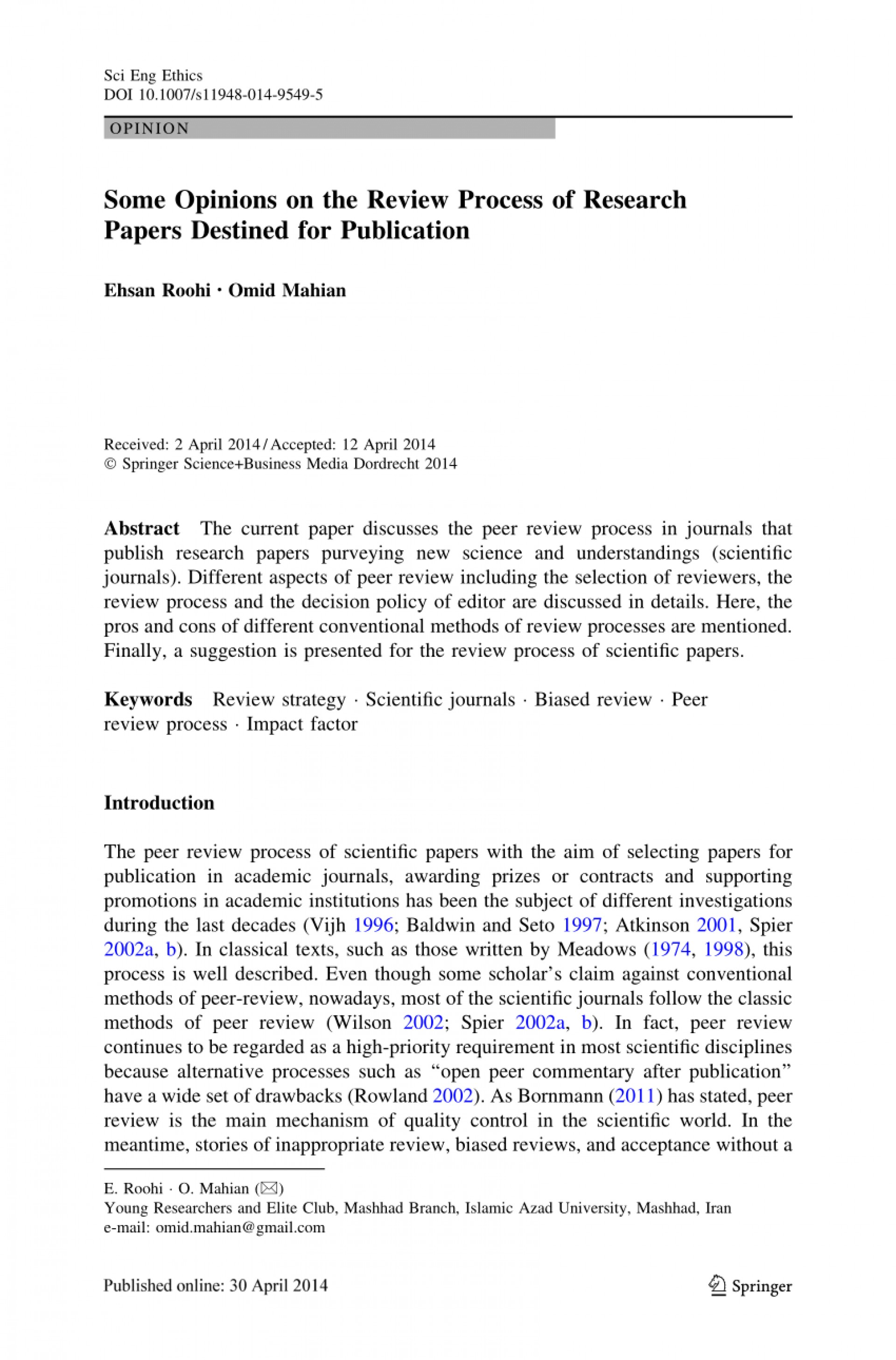 008 How To Publish Research Paper In Springer Papers Online Top Journal 1920