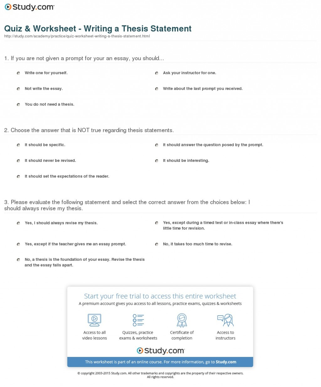 008 How To Write Thesis Statement Step By Quiz Worksheet Writing Research Archaicawful A Pdf Large