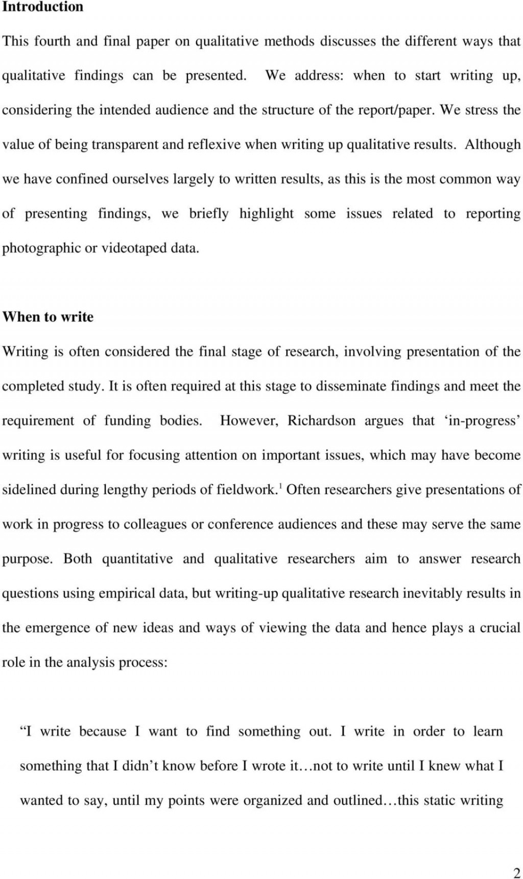 008 How To Write Up Results In Research Paper Page 2 Stupendous A Large