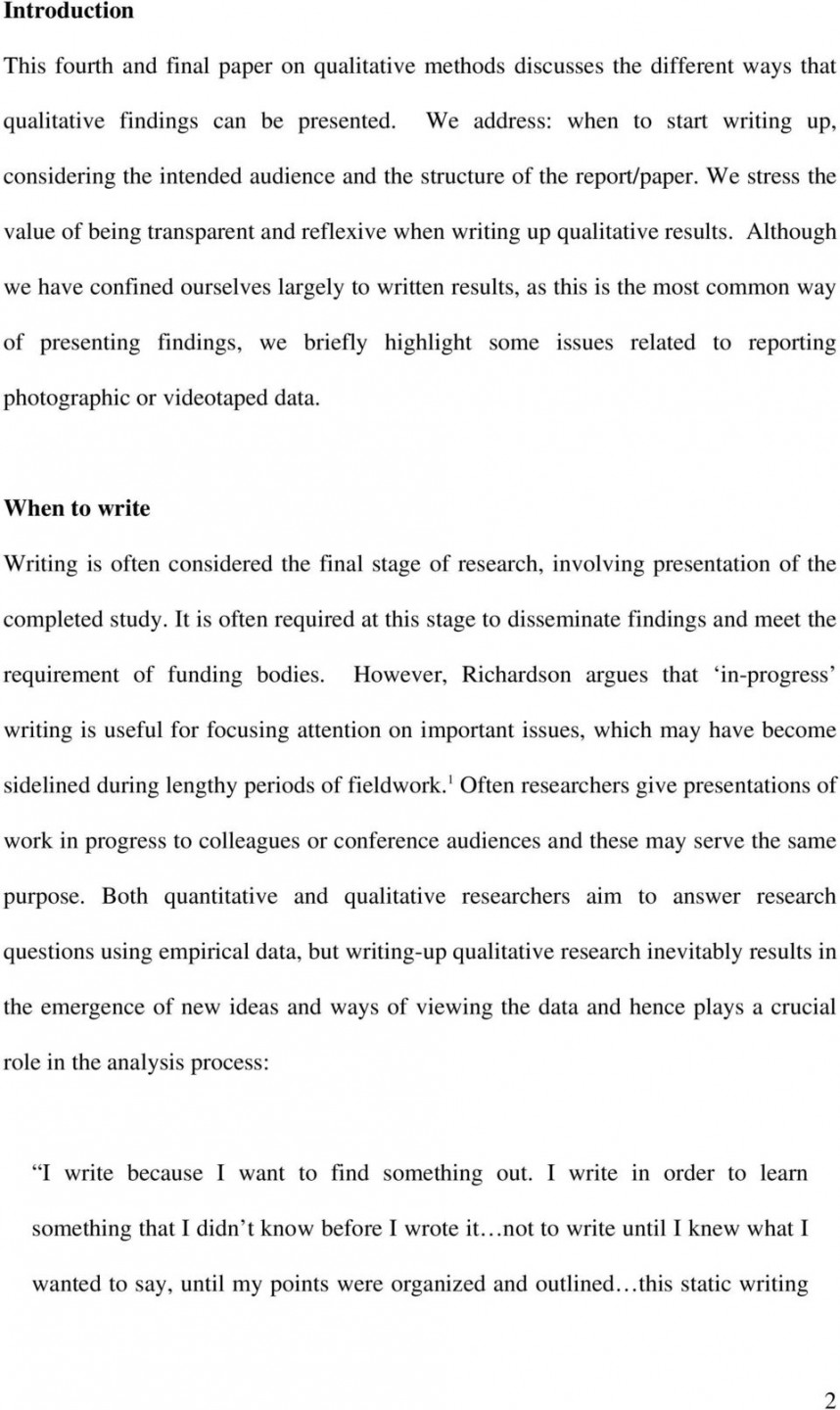 008 How To Write Up Results In Research Paper Page 2 Stupendous A
