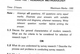 008 Ignou Master Of Library And Information Science Research Methodology Previous Years Questions Example For Unusual Paper In Quantitative Procedure Section A
