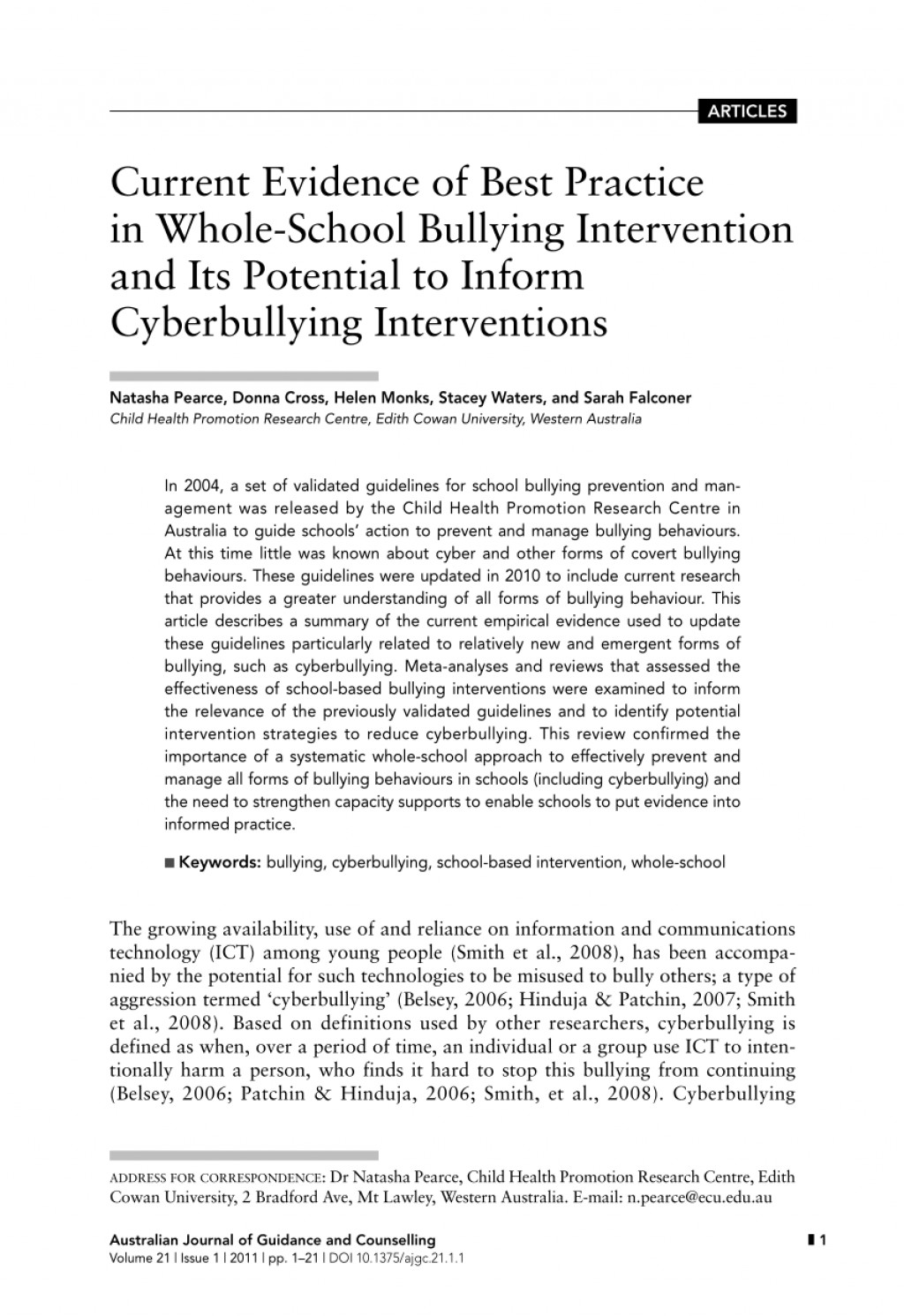 008 Largepreview Research Paper Bullying Articles For Rare Papers Large