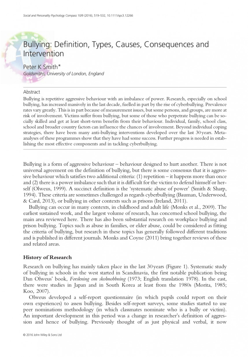 008 Largepreview Research Paper Psychological Effects Of Breathtaking Bullying 868