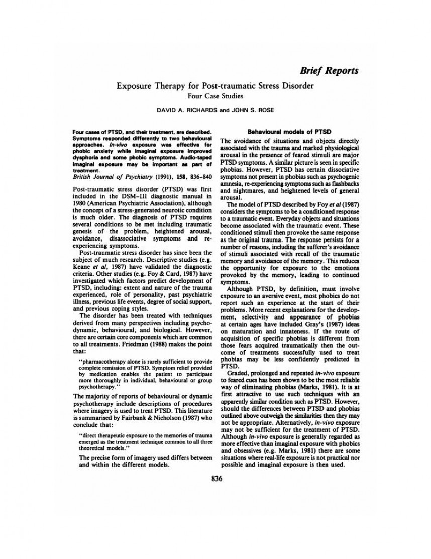 008 Latest Research On Post Traumatic Stress Disorder Paper Firstpage Magnificent Information Questions Articles