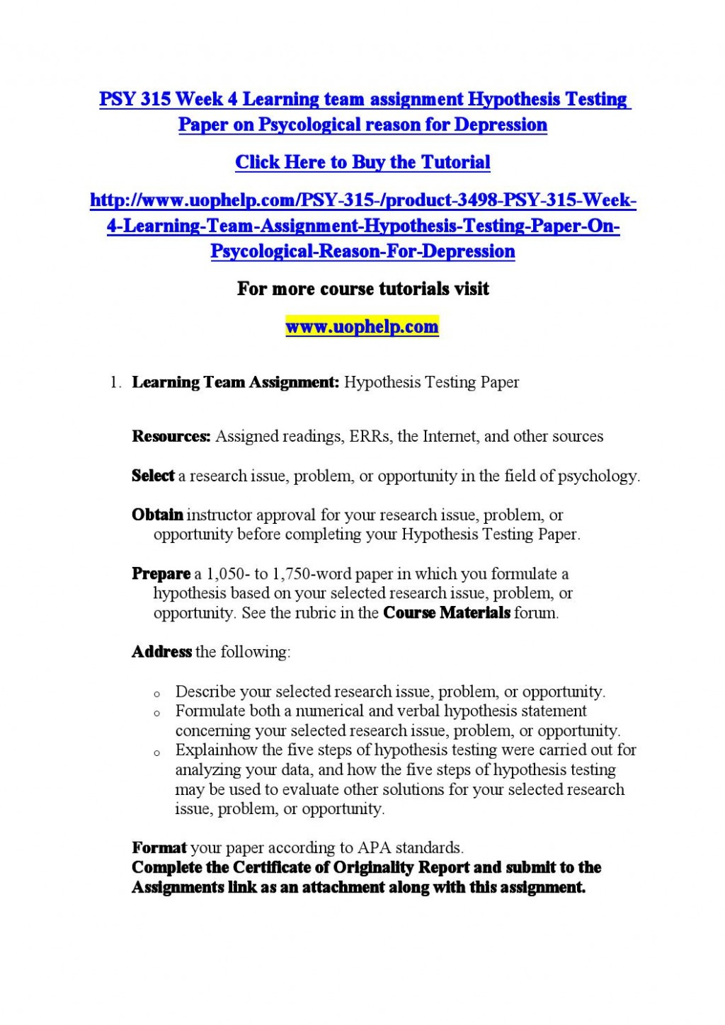 008 Page 1 Research Paper Hypothesis Testing Awesome In Pdf Large