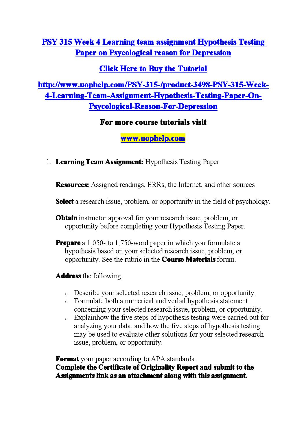 008 Page 1 Research Paper Hypothesis Testing Awesome In Pdf Full