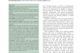 008 Primary Research Article On Childhood Obesity Paper Imposing 320