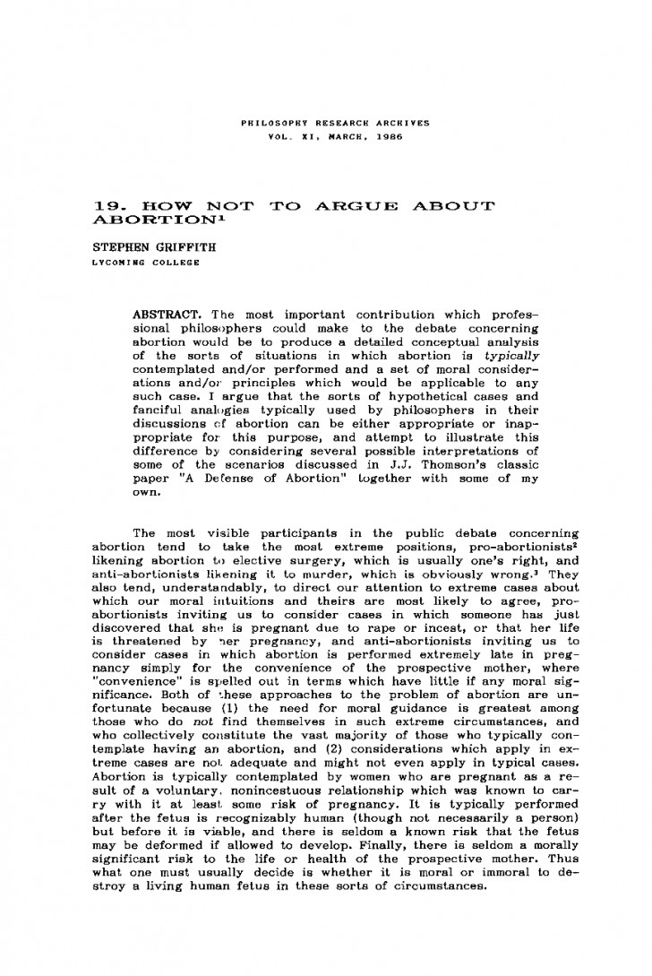 008 Pro Choice Abortion Research Paper Outline Uncategorized Essay Why Is Wrong Argument On Argumentative Oracleboss Life Unique 728