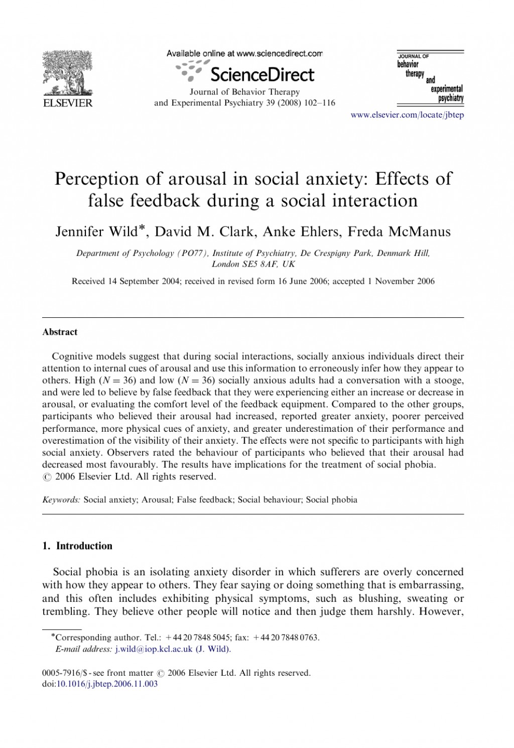 008 Psychology Research Paper On Social Anxiety Disorder Staggering Large