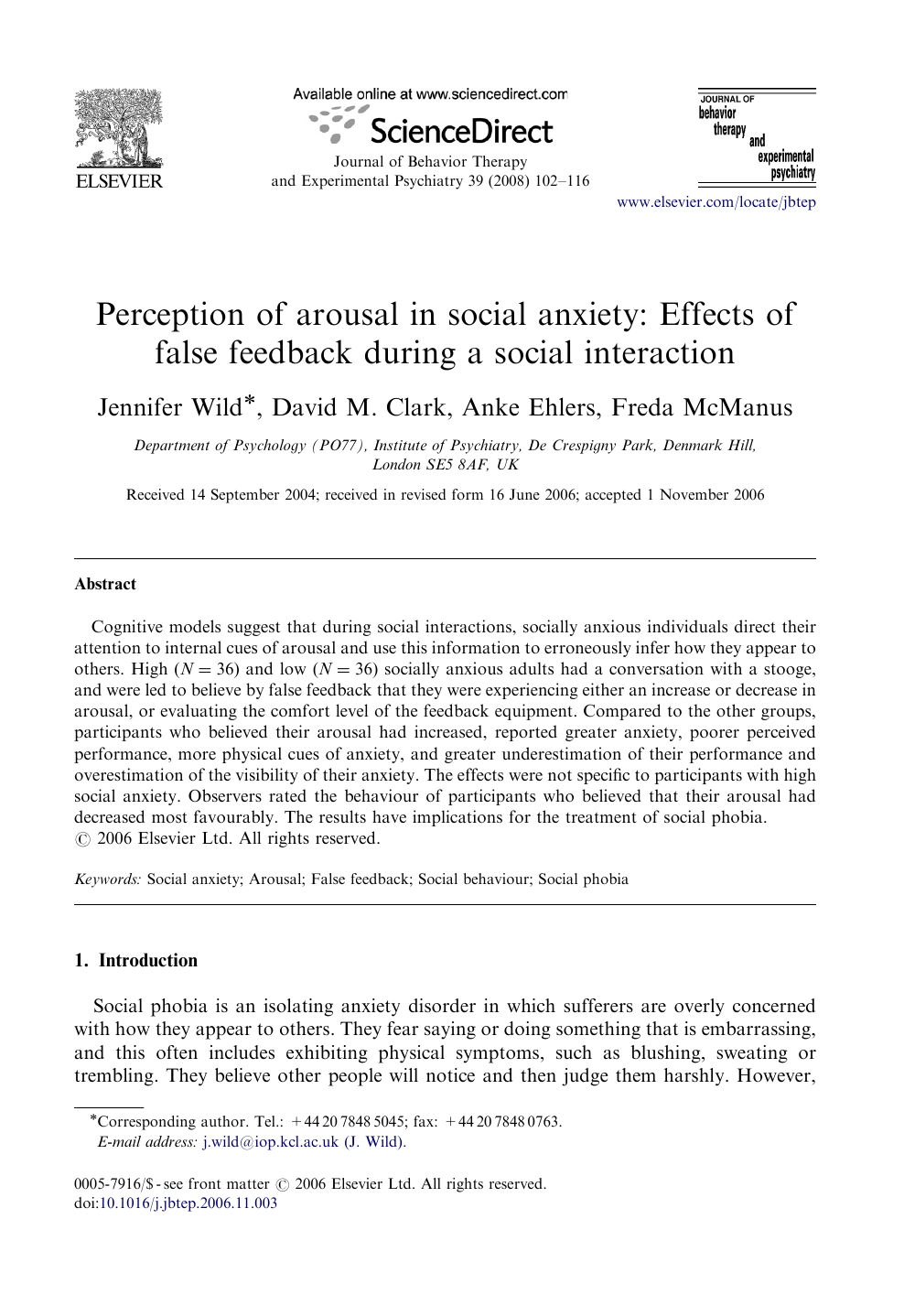 008 Psychology Research Paper On Social Anxiety Disorder Staggering