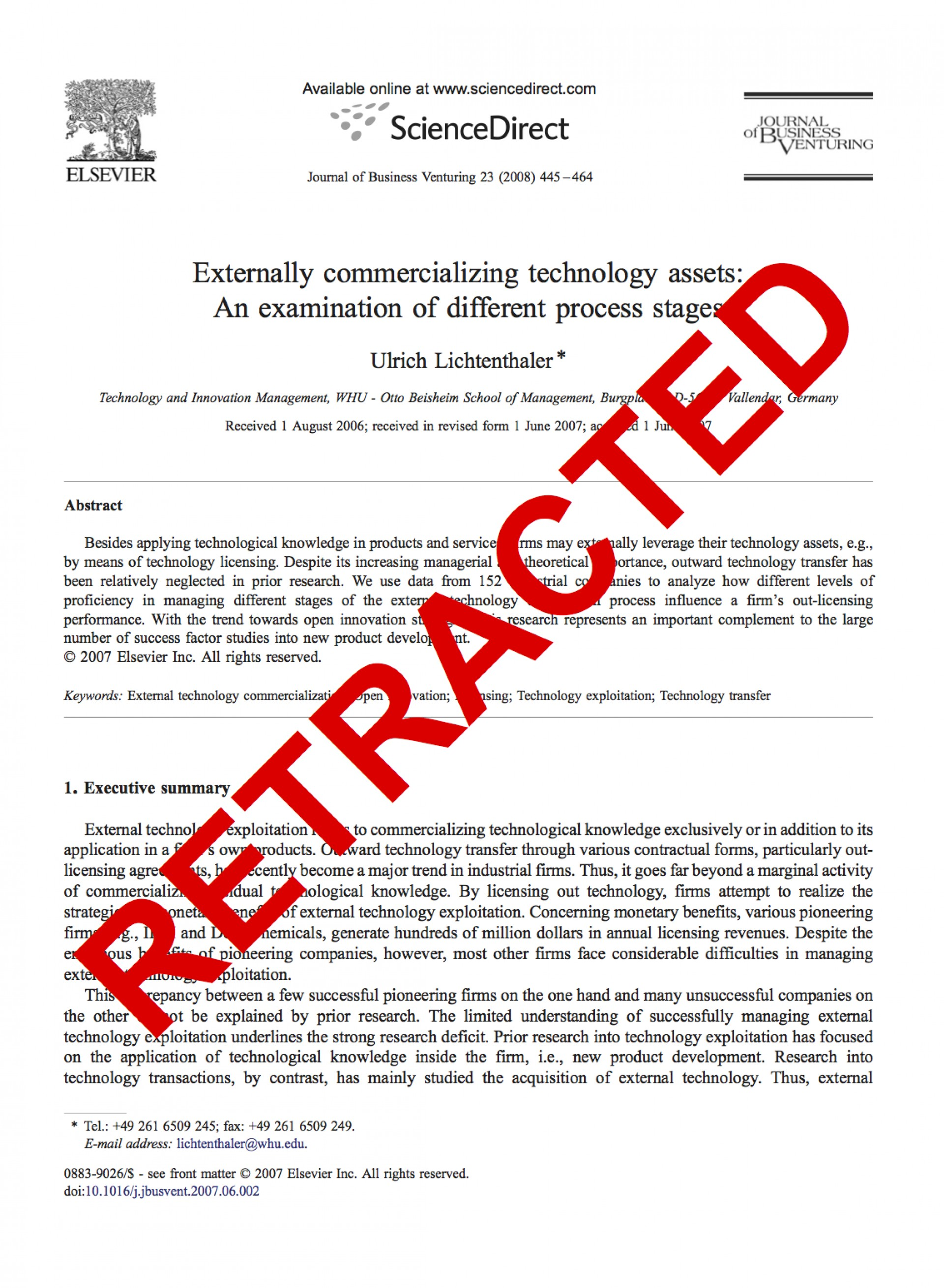 008 Research Paper 2010jbv Lichtenthalerretracted Can You Buy Amazing Papers 1920