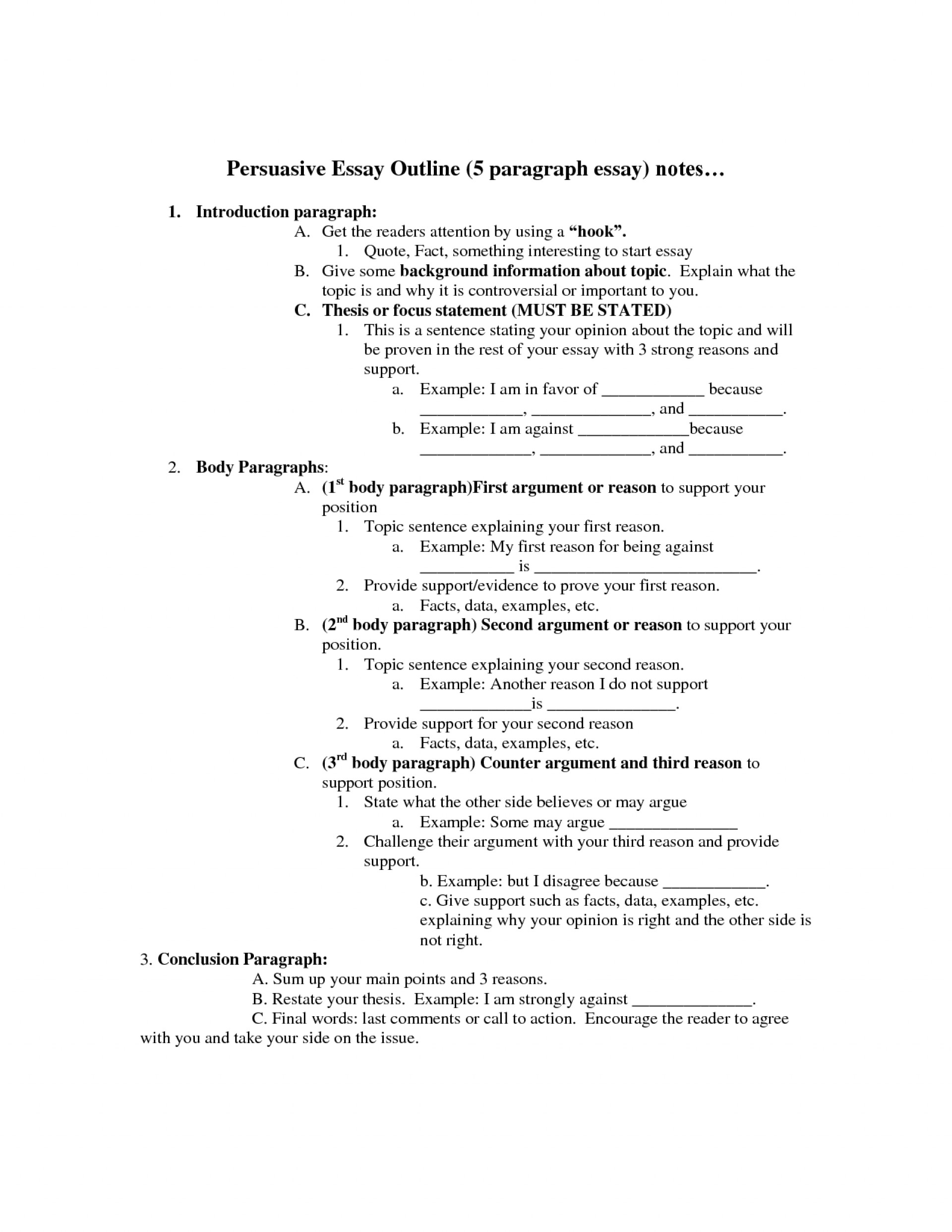 Example Of A Thesis Statement For An Essay  Business Essay Writing also Essay On Science And Technology  Argument Research Essay Outline An For Paper  Mental Health Essays