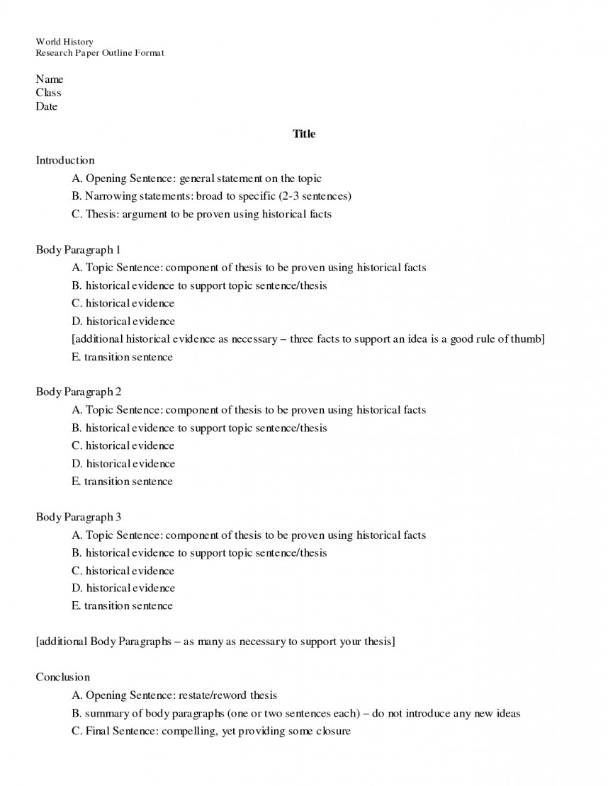 008 Research Paper Basic Imposing Outline Easy Template 868