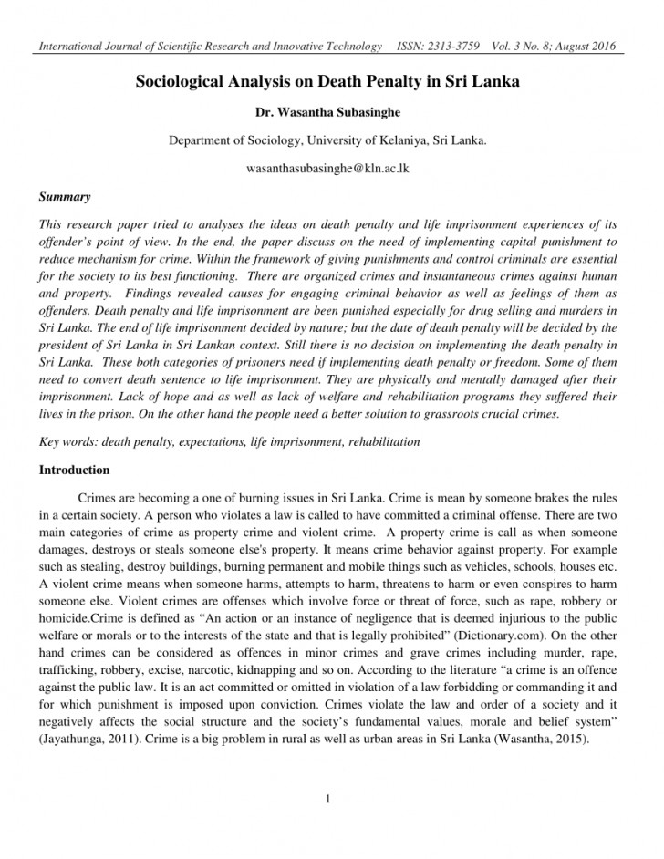 008 Research Paper Death Penalty Abstract Remarkable 728