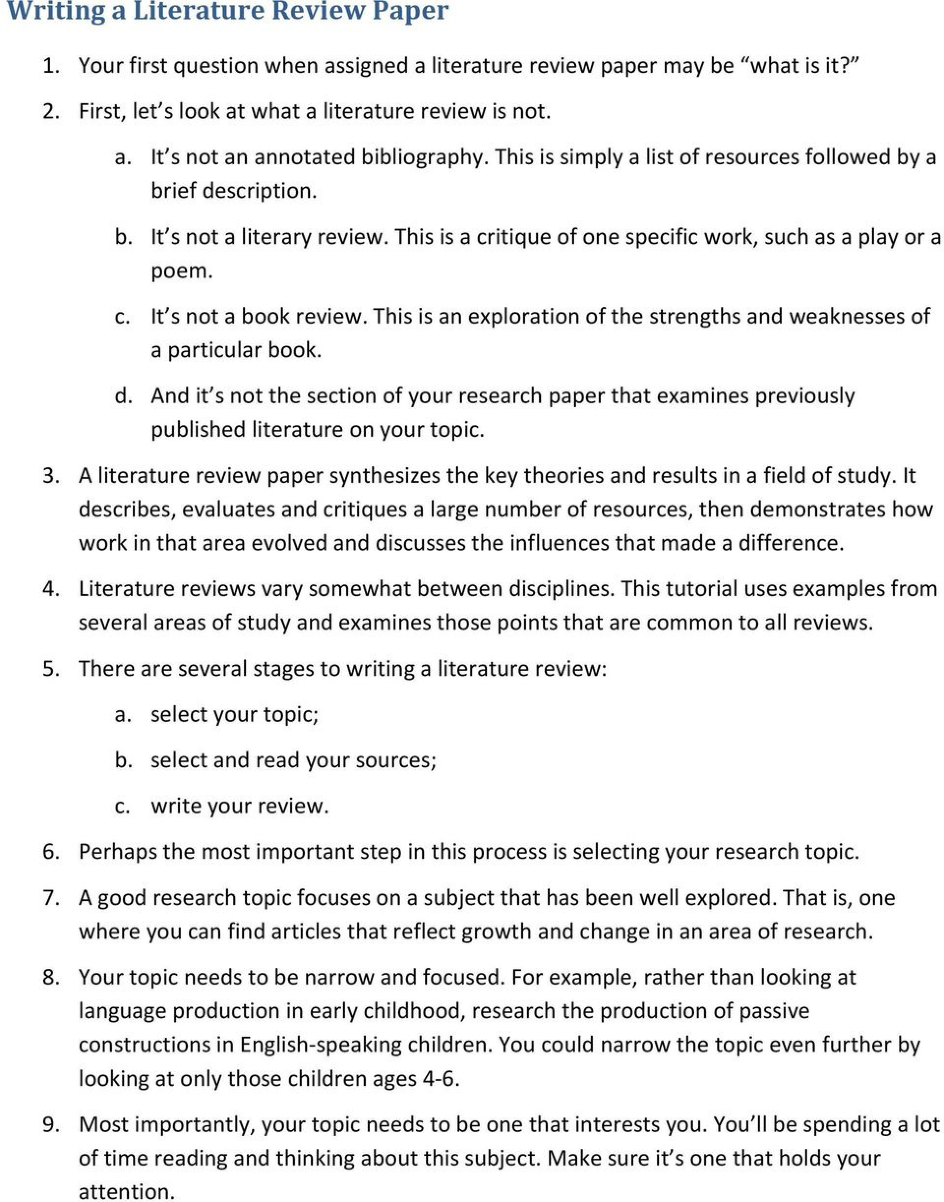 008 Research Paper Difference Between And Review Of Literature Page 1 Awesome 1920