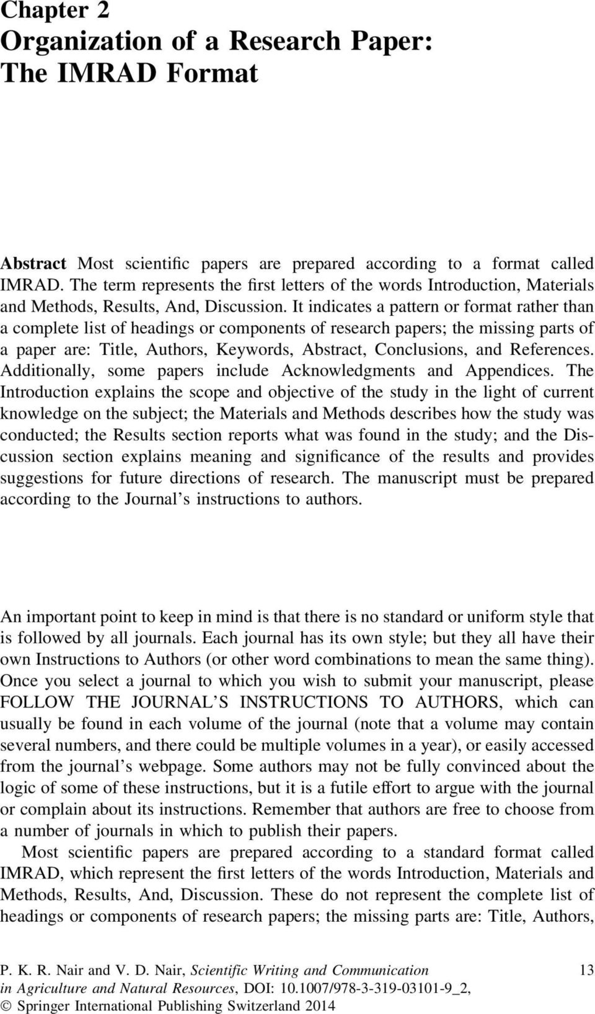 008 Research Paper Example Of Imrad Pdf Page 1 Stupendous Sample 1920
