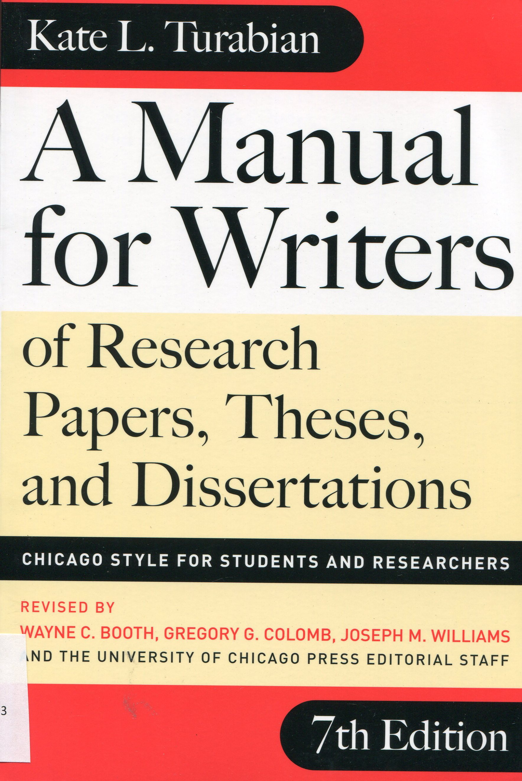 008 Research Paper Img288 Manual For Writers Of Papers Theses And Dissertations By Kate L Sensational A Turabian L. Full