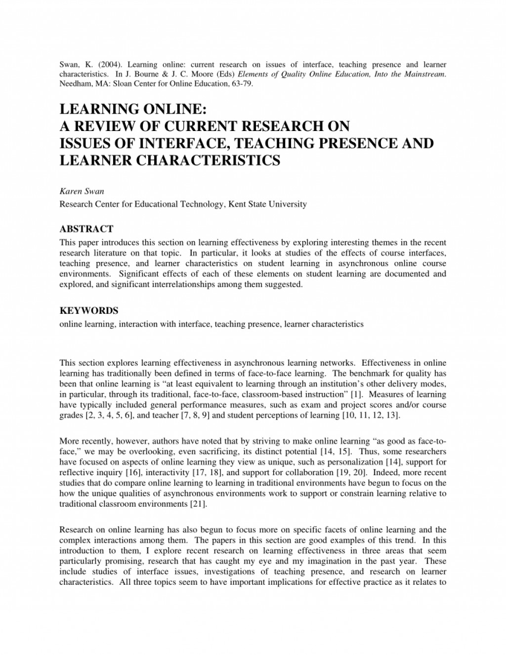 008 Research Paper Largepreview Effectiveness Of Online Amazing Education Large