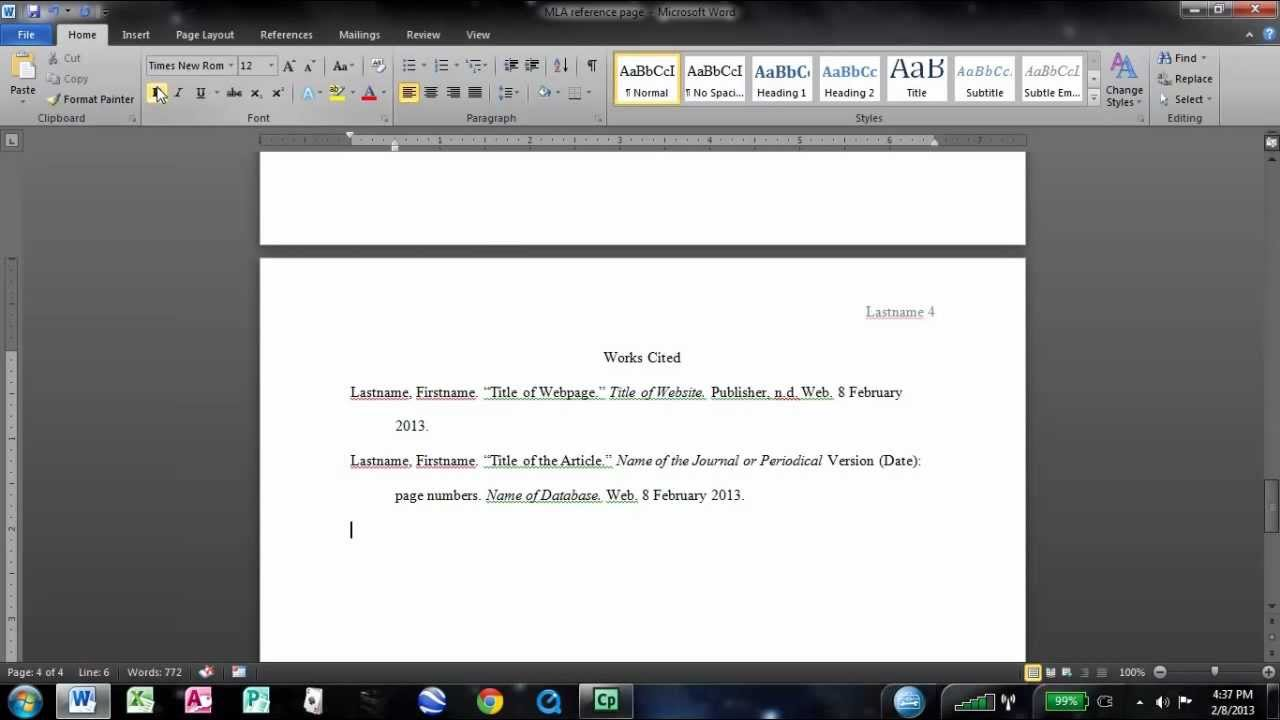 008 Research Paper Maxresdefault How To Do Mla Works Cited Unusual For A Page Full