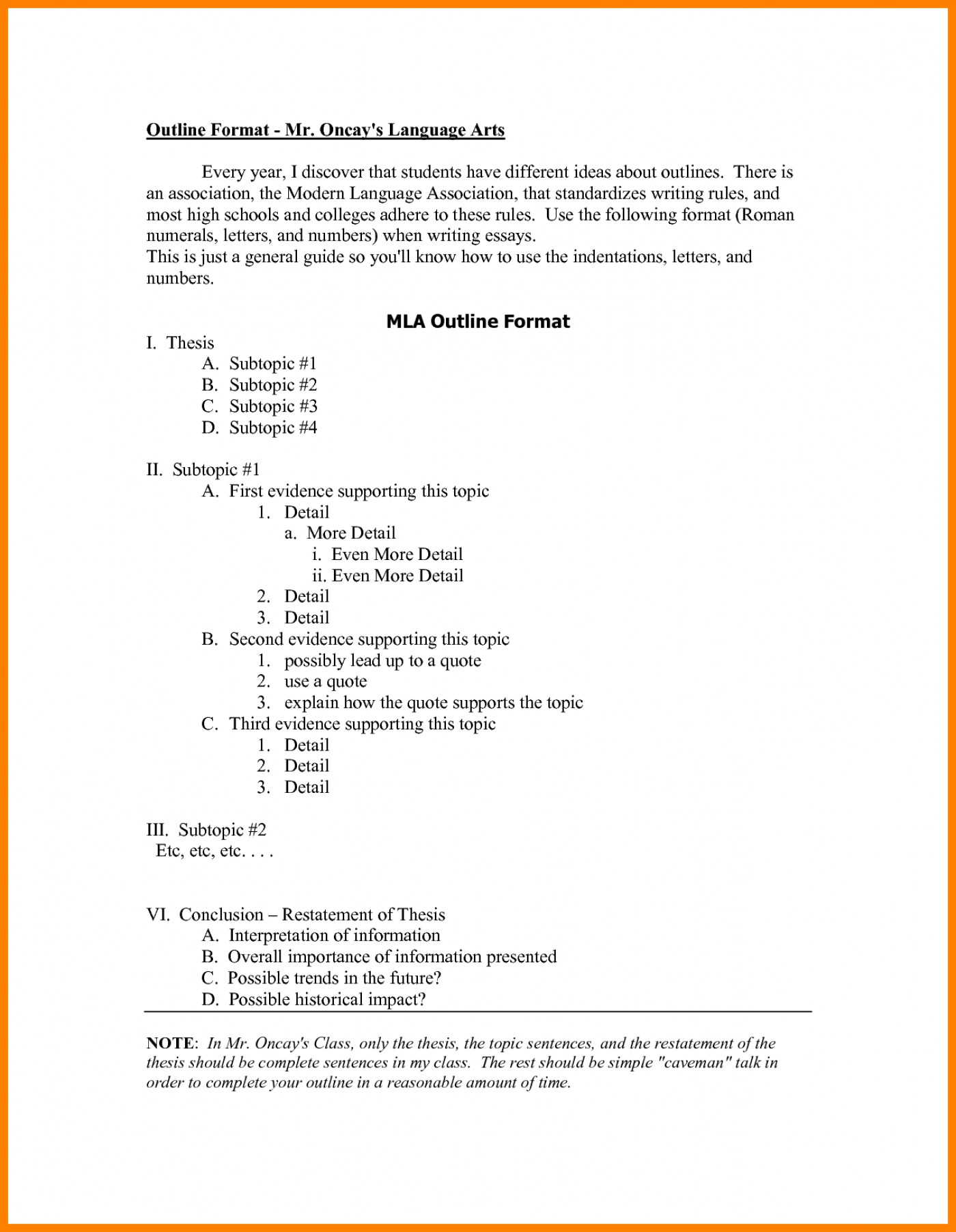 008 Research Paper Mla Format Outline Examples 148 Singular Papers Checklist Template 1400