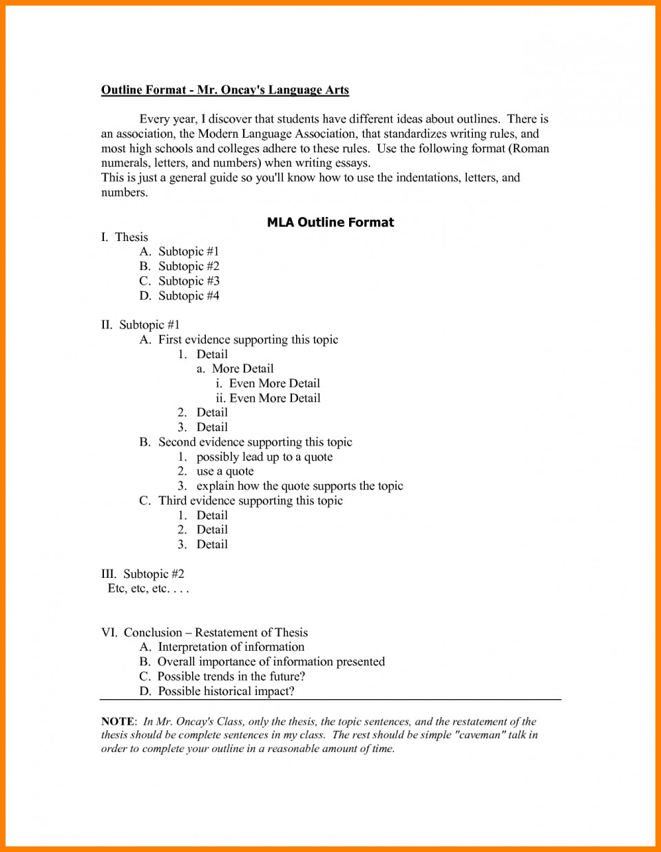 008 Research Paper Mla Format Outline Examples 148 Singular Papers Checklist Template 960