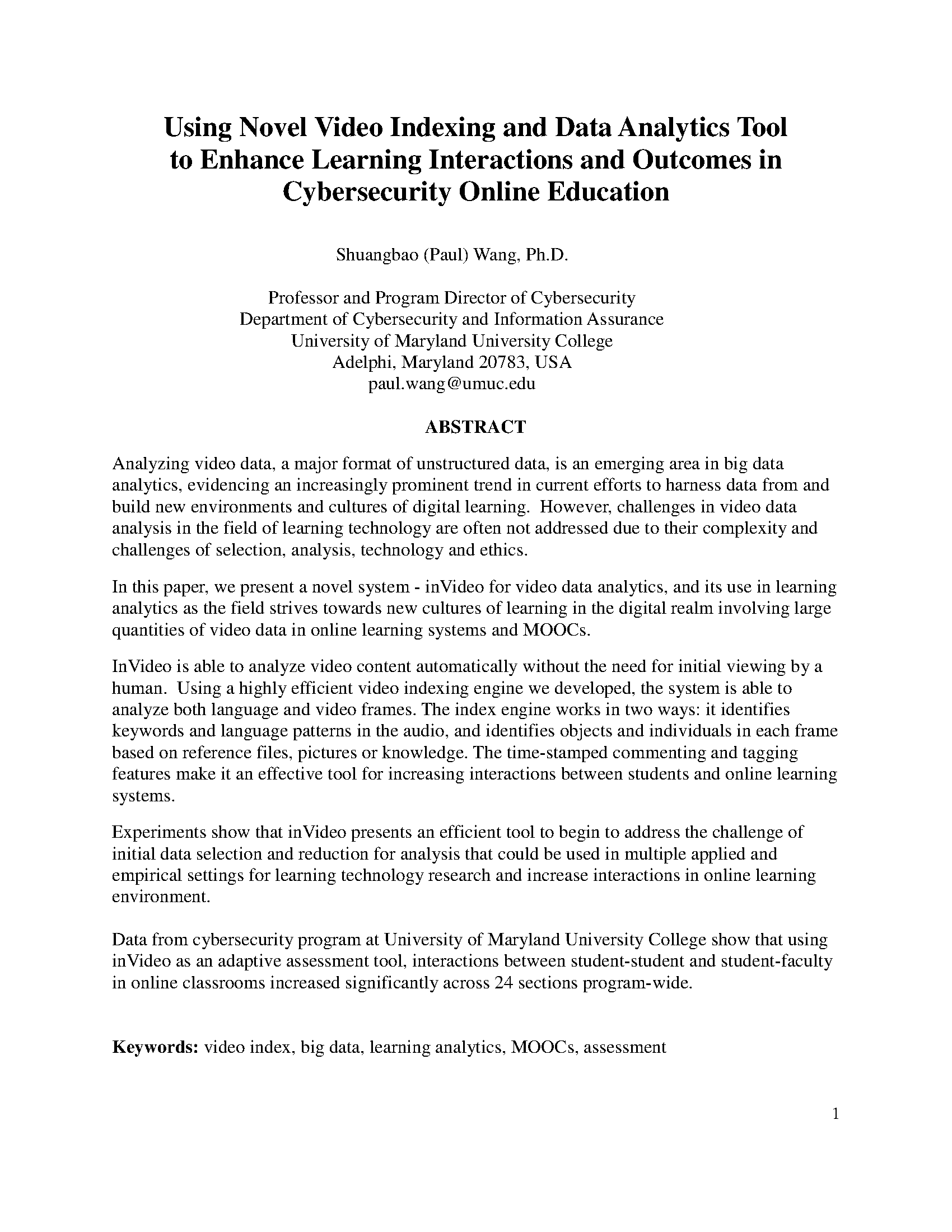 Online research analysis paper