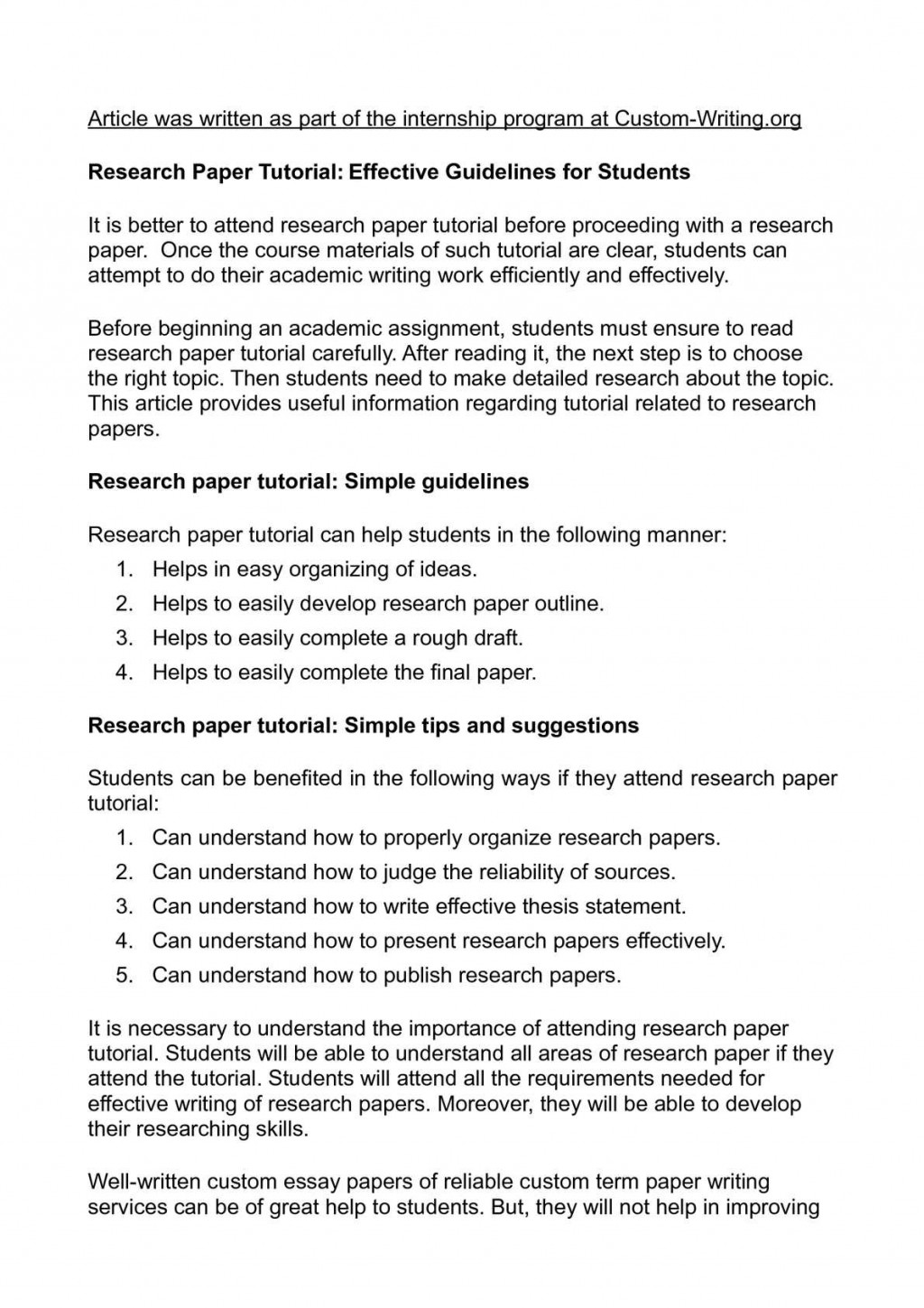 008 Research Paper P1 Organizing Unforgettable A Outline Information In An For Large