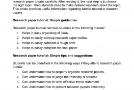 008 Research Paper P1 Organizing Unforgettable A Outline Information In An For