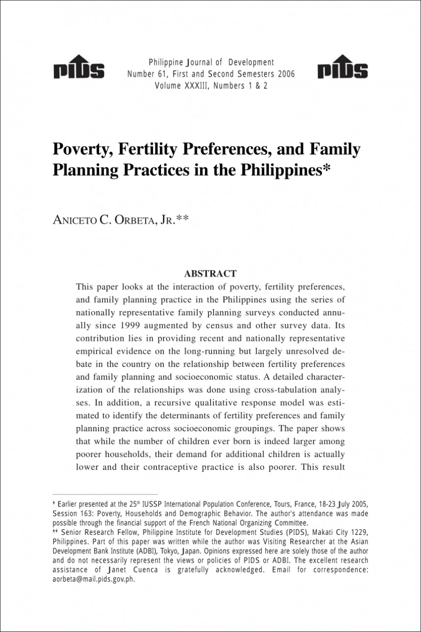 008 Research Paper Poverty In The Philippines Pdf Impressive 868