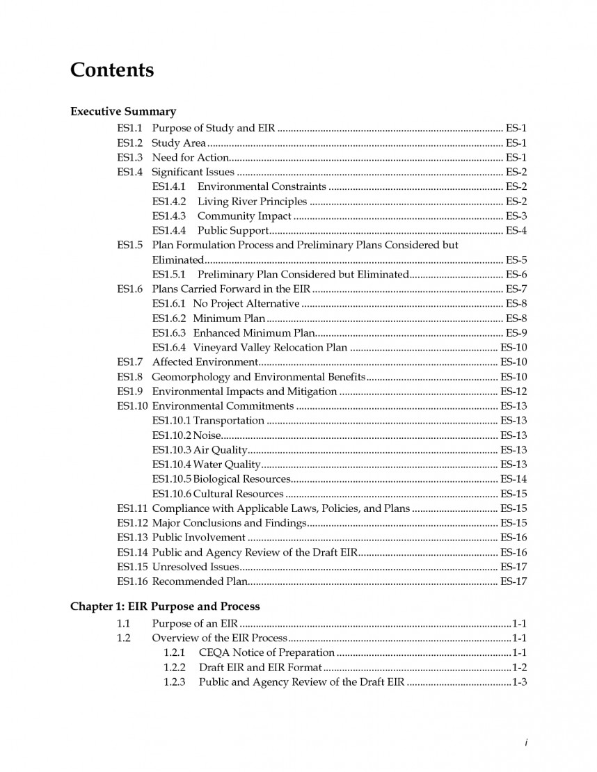 008 Research Paper Table Of Contents Format Template 577379 Fascinating Apa Style