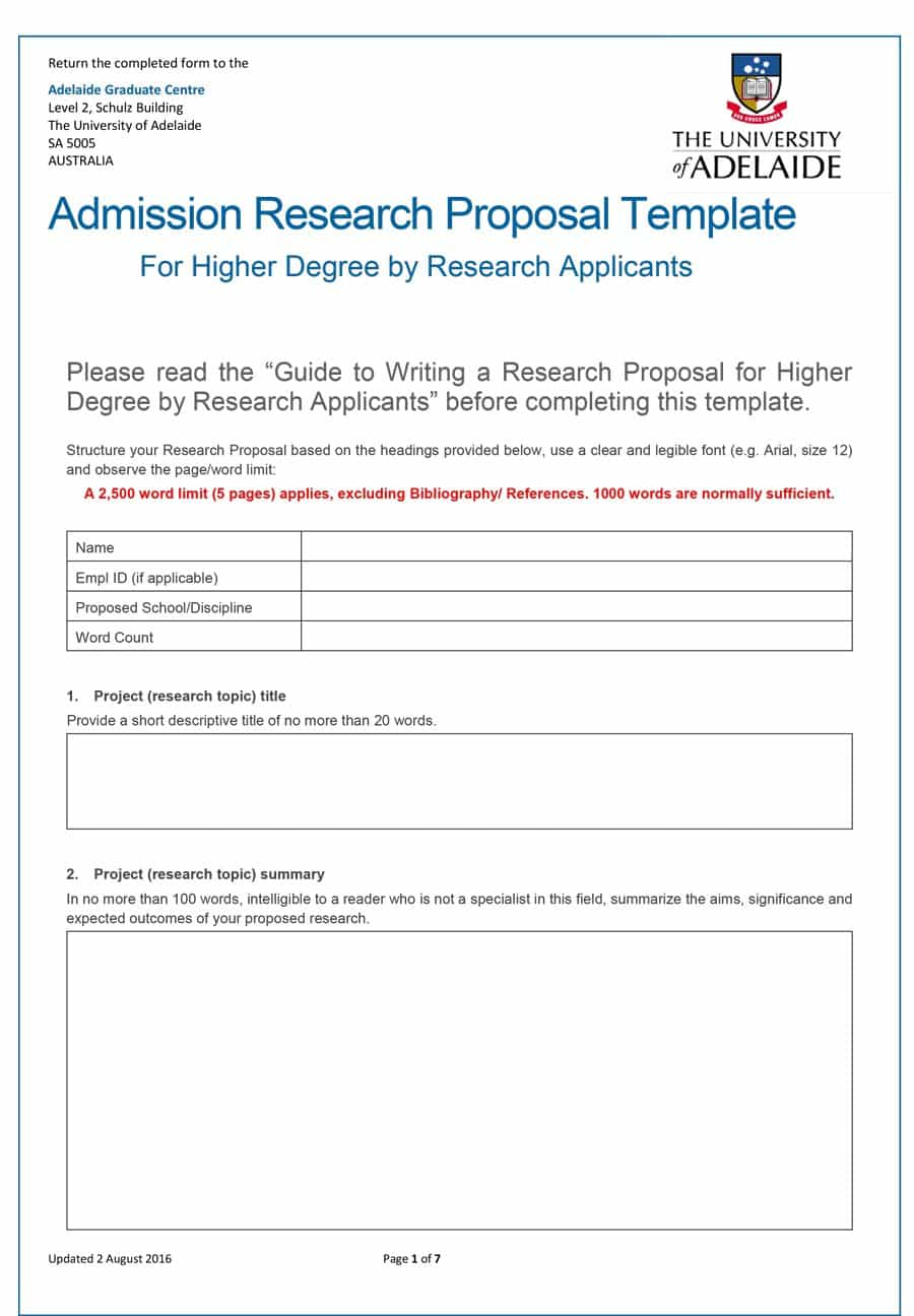 008 Research Proposal Template Paper Exceptional Example Full