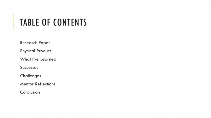008 Table Of Contents For Research Paper Slide 2 Stunning Apa In Outline